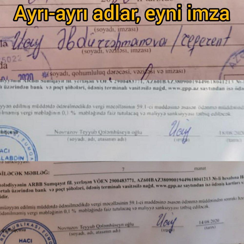 Hacı Zeynalabdin Bələdiyyəsində saxta sənəd qalmaqalı - İLGİNC FAKT